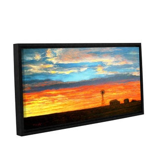 ArtWall Gene Foust 'Farmville' Gallery-wrapped Floater-framed Canvas