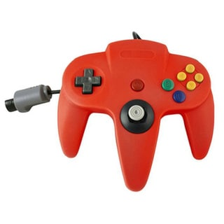 TTX Tech Red Wired Controller For Nintendo 64 System