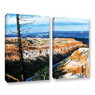 ArtWall Gene Foust 'Mountain Tops Blue Sky' 2 Piece Gallery-wrapped Canvas Set