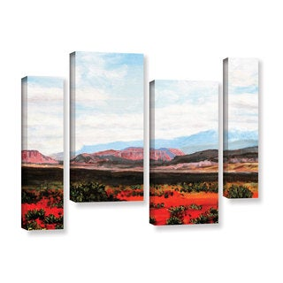 ArtWall Gene Foust 'Joyride' 4 Piece Gallery-wrapped Canvas Staggered Set