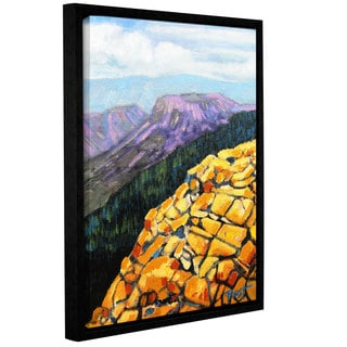 ArtWall Gene Foust 'Yellow Brick Road' Gallery-wrapped Floater-framed Canvas