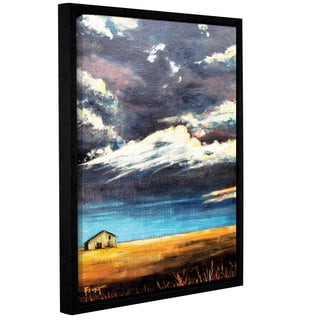 ArtWall Gene Foust 'Lone Barn' Gallery-wrapped Floater-framed Canvas