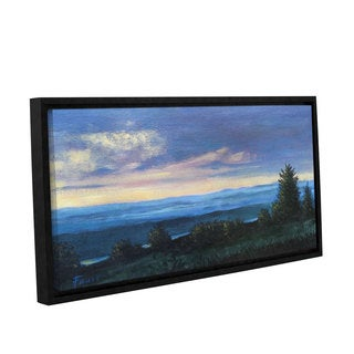 ArtWall Gene Foust 'Hillside' Gallery-wrapped Floater-framed Canvas