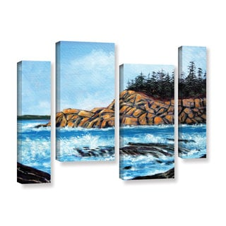 ArtWall Gene Foust 'Roll Tide' 4 Piece Gallery-wrapped Canvas Staggered Set