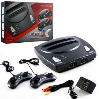 Retro-Bit 2-in-1 8/ 16-Bit Controllers AC Adapter with AV Cables For Sega Genesis cartridges