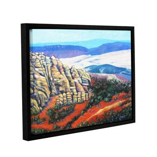 ArtWall Gene Foust 'Rocky Mountain Living' Gallery-wrapped Floater-framed Canvas
