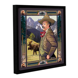 ArtWall Rick Kersten 'Teddy Roosevelt' Gallery-wrapped Floater-framed Canvas