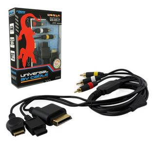 KMD 6-feet Gold Plated AV Composite Cable For Sony Playstation PS 2/ 3/ Xbox 360/ Nintendo Wii