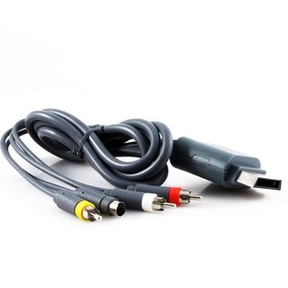 KMD 6-feet Gold-plated S-Video AV Cable For Microsoft Xbox 360