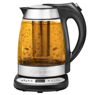 Chefman RJ11-17-GP Silver Precision Electric Kettle