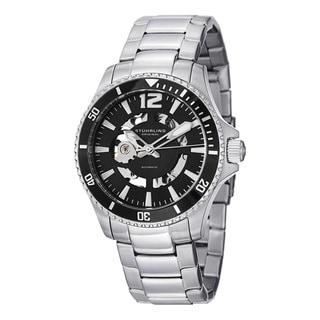 Stuhrling Original Men's Regatta Makran Automatic Skeleton Stainless Steel Bracelet Watch