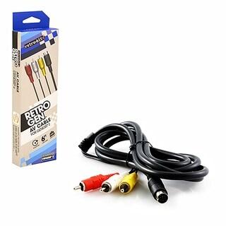 Retro-Bit 6-feet S-Video RCA AV Cable For Sega Genesis 2