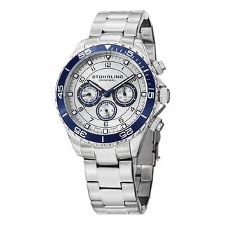Stuhrling Original Men's Aquadiver Swiss Quartz Stainless Steel Bracelet Watch