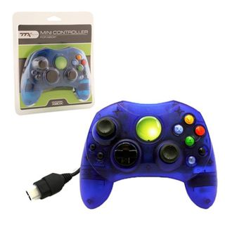TTX Tech Clear Blue 6-feet Wired Controller For Microsoft Xbox System