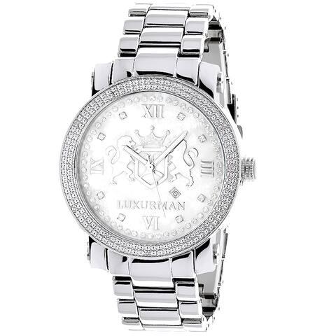 Luxurman Men's Limited Edition 1/8ct TDW Diamond Watch