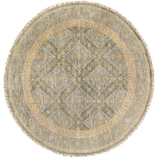 Hand-Knotted Colin Border New Zealand Wool Area Rug - 8' Round