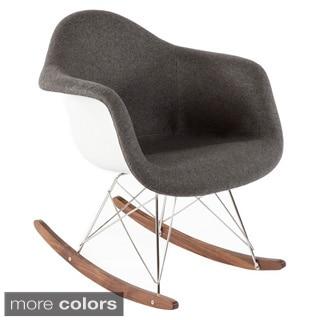 Hans Andersen Home Mid Century Rocking Chair with Walnut sleighs