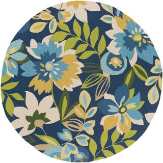 Hand-Hooked Cody Floral Polypropylene Rug (8' Round)