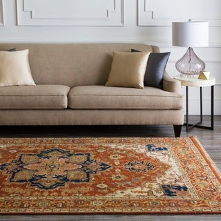 Hand-Knotted Conor Border New Zealand Wool Rug (2'6 x 8')
