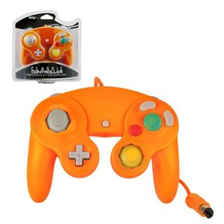 TTX Tech Orange Wired Controller For Nintendo GameCube System