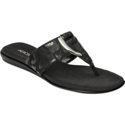 Women's Aerosoles Nice Save Thong Sandal Black Fabric