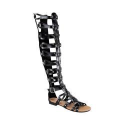 Women's Wild Diva Alyssa-17-FE Gladiator Sandal Black Faux Leather