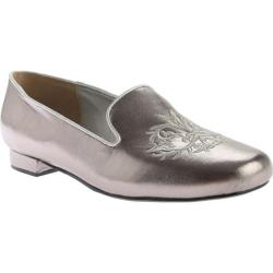 Women's Beacon Shoes Crusader Flat Pewter Leather