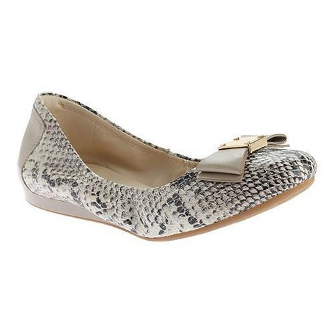 Women's Cole Haan Tali Bow Ballet Flat Natural Roccia Snake Print