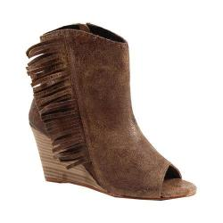Women's Diba True In A Moment Open Toe Bootie Cognac Leather