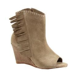 Women's Diba True In A Moment Open Toe Bootie Natural Suede