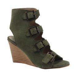 Women's Diba True In Vited Wedge Sandal Olive Suede