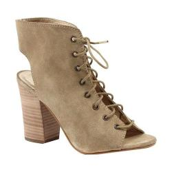 Women's Diba True It Was Good Open Toe Bootie Natural Suede