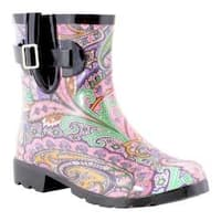 Women's Nomad Droplet Rain Boot Pastel Paisley
