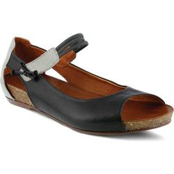 Women's Spring Step Aside Mary Jane Black Leather