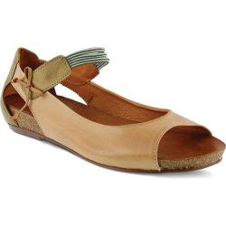 Women's Spring Step Aside Mary Jane Camel Leather