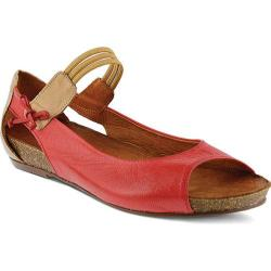 Women's Spring Step Aside Mary Jane Red Leather