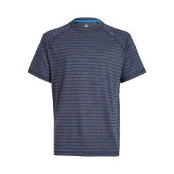 Men's tasc Performance Carrollton Performance Crew Black Heather/Cadet Bamboo Stripe