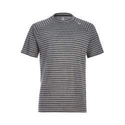 Men's tasc Performance Carrollton Performance Crew Heather Gray/Gunmetal Bamboo Stripe