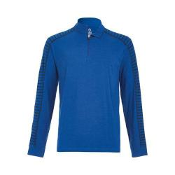 Men's tasc Performance Core 1/4-Zip Cobalt/Black Bamboo Stripe