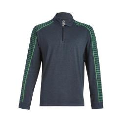 Men's tasc Performance Core 1/4-Zip Gunmetal/Fairway Bamboo Stripe