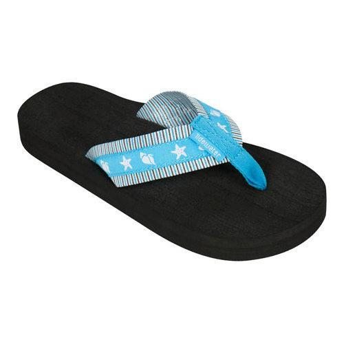Women's Tidewater Sandals Shelltastic Aqua Flip Flop Aqua/White
