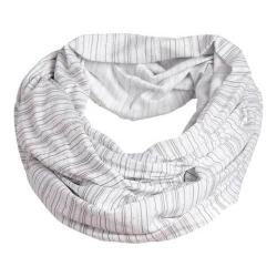 Women's tasc Performance Infinity Scarf White/Pale Gray Dash Stripe