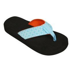 Women's Tidewater Sandals Blue Buoy Flip Flop Blue/White/Orange