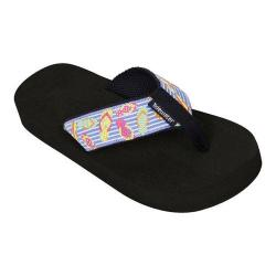Girls' Tidewater Sandals Floating Flops Black/White