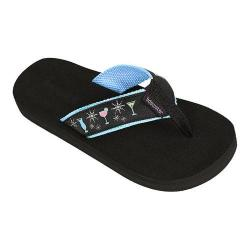 Women's Tidewater Sandals Glamour Cocktail Flip Flop Turquoise/Pink/Green