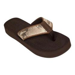 Women's Tidewater Sandals Hyco Gold Flip Flop Brown/Gold