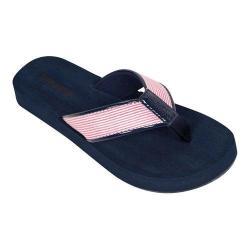Women's Tidewater Sandals Nauset Pink Flip Flop Pink/White
