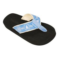 Women's Tidewater Sandals Nautical Light Blue Flip Flop Blue/White