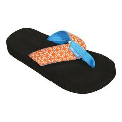 Women's Tidewater Sandals Orange Buoy Flip Flop Orange/White/Blue