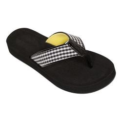 Women's Tidewater Sandals Palm Yellow Flip Flop Black/White/Yellow